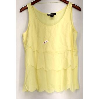 Kate & Mallory top tank w/mantel laag front gele Womens A417046