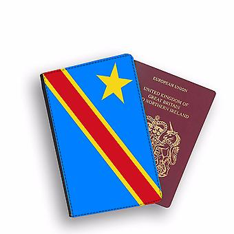 DEMOCRATIC REPUBLIC OF CONGO Flag Passport Holder Style Case Cover Protective Wallet Flags design
