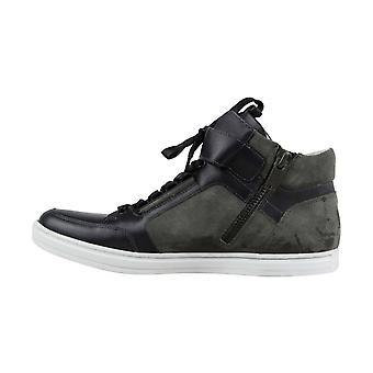 Kenneth Cole New York Mens Brand-y Fabric Hight Top Lace Up Fashion Sneakers