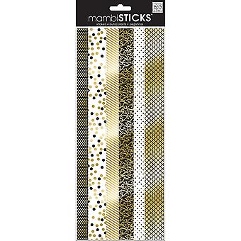 Specialty Stickers-Gold/Black & White Border SPX-283