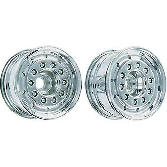 Carson Modellsport 1:14 HGV Rims 27.5 mm PVC Chrome 1 pair