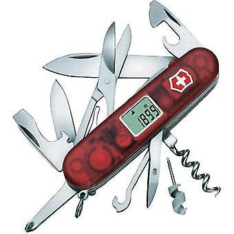 Swiss army knife + digital display No. of functions 21 Victorinox Traveller Lite 1.7905.AVT Red (transparent)