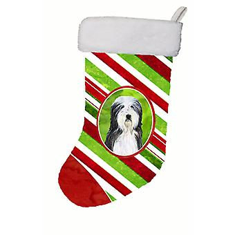 Carolineøerne skatte SS4566-CS Bearded Collie vinter snefnug jul Stocki