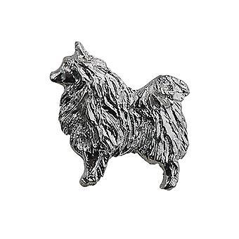 Broche de perro de plata 22x29mm