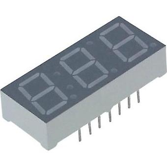 Seven-segment display Red 10 mm 2 V No. of digits: 3 Lite-On