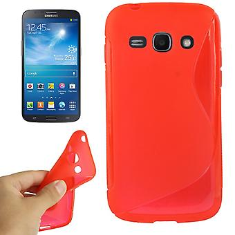 Mobile affaire TPU pour Samsung Galaxy ACE 3 S7272 rouge