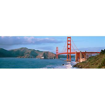 Golden Gate Bridge CA Poster Print
