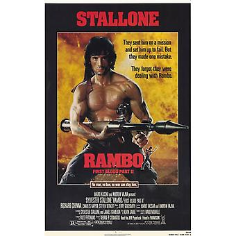 Rambo First Blood Part 2 Movie Poster (11 x 17)