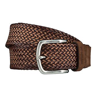 Windsor. Belts men's belts leather belt woven belt Cognac 4176