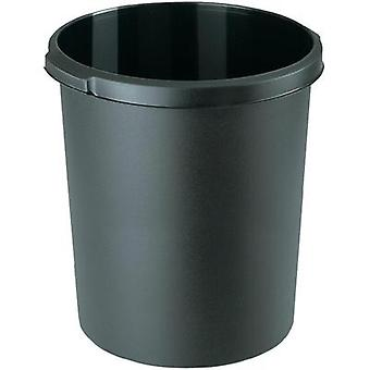 Waste paper basket 30 l HAN 1834-13 (Ø x H) 303 mm x 410 mm Black 1 pc(s)