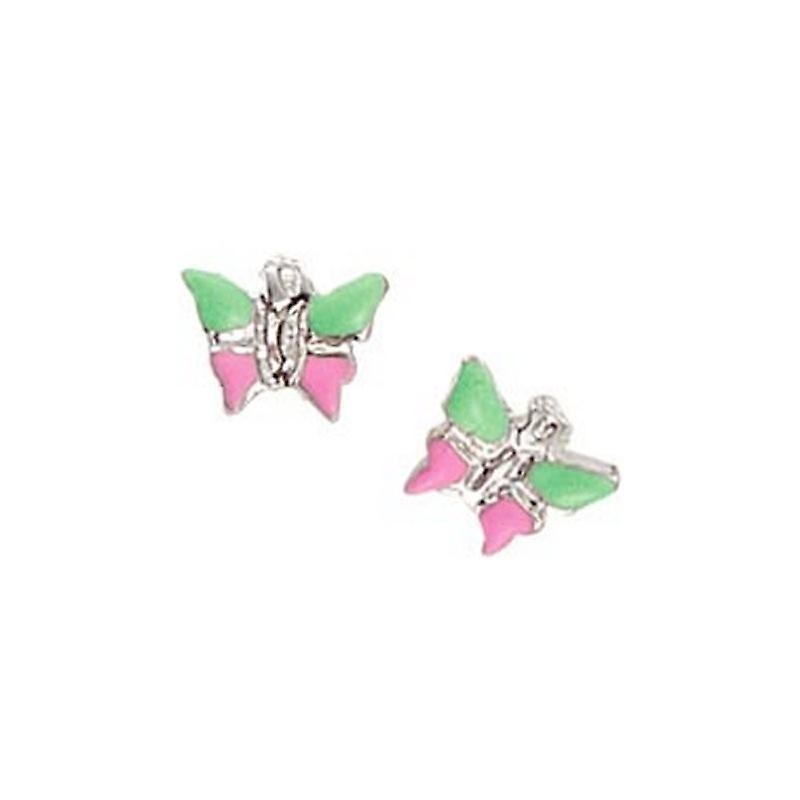 Scout Children earrings pierced earrings silver butterfly green / pink girls 262128100
