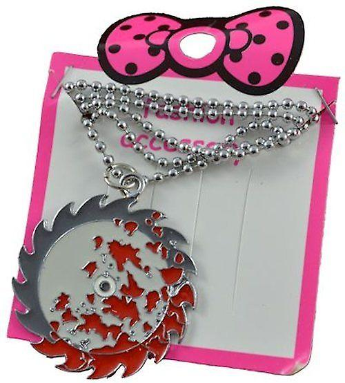 Saw Blade Necklace Jewellery Accessory Silver Chain