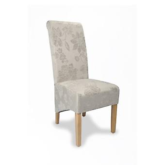 Dora Oak And Upholstery Designed Floral Chair - Color Selection - Fully Assembled