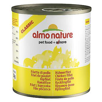 Almo Nature Classic Cat Chicken Fillet 280g (Pack of 12)