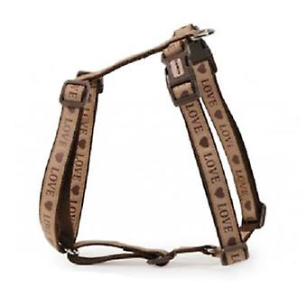 Camon Harness Adjustable Love Beige and Brown (Dogs , Walking Accessories , Harnesses)