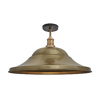 Brooklyn Vintage Giant Hat Metal Flush Mount Light - Brass - 21