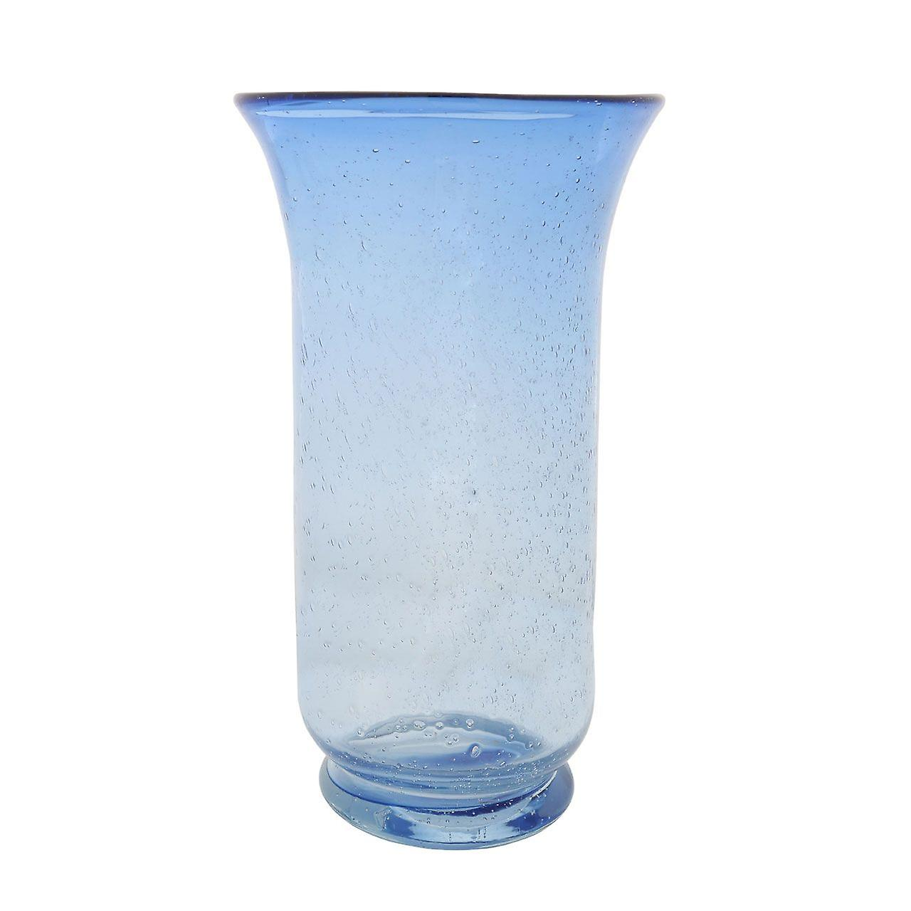 Flared Top Vase Clear/Purpule Glass For Home Decoration