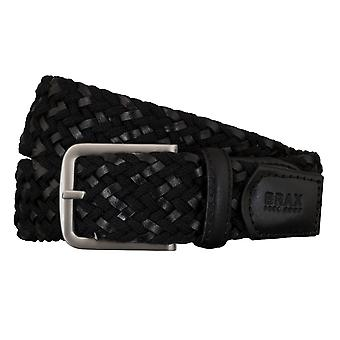 BRAX belts men's belts textile / leather woven belt black 5409