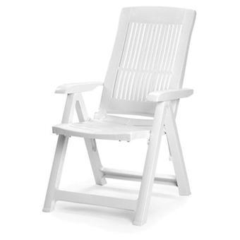 AFT Armchair White Resin 5 Positions Tampa