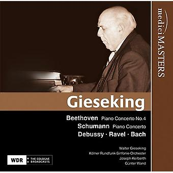 Beethoven/Schumann/Debussy - Walter Gieseking spiller Beethoven, Schumann, Debussy, Ravel & Bach [CD] USA import
