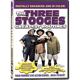 Three Stooges - største rutiner [DVD] USA importerer