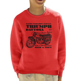 Haynes Owners Workshop Manual Triumph Daytona 350 500 Kid's Sweatshirt