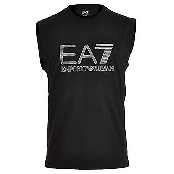 EA7 Emporio Armani Train Visibility Logo Tank Top, Black, Medium