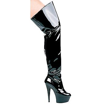 Ellie Shoes E-609-Casino 6 Heel Pointed Stilletto Thigh High Boots