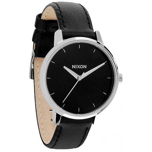 Nixon The Kensington Leather Watch - Black