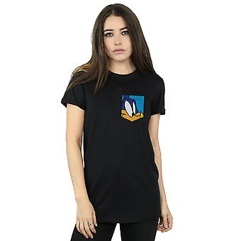 Looney Tunes Women's Roadrunner Face Faux Pocket Boyfriend Fit T-Shirt