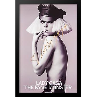 Lady Gaga Fame Monster Signed Poster