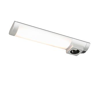 QAZQA Wall Lamp Helge LED Silver with Power Socket