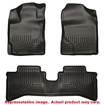 Husky Liners 99501 Black WeatherBeater Front & 2nd Seat FITS:TOYOTA 2012 - 2014