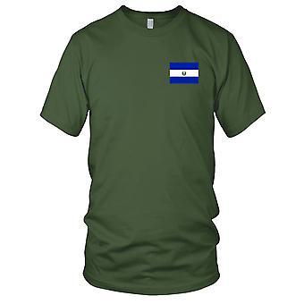 El Salvadors nasjonale flagg - brodert Logo - 100% bomull t-skjorte Kids T skjorte