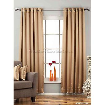 Taupe Ring / Grommet Top 90% blackout Curtain / Drape / Panel  - Piece