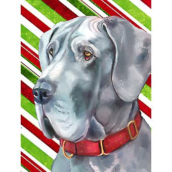 Great Dane Candy Cane Holiday Christmas Flag Garden Size