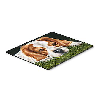 Cavalier Spaniel in the Grass Mouse Pad, Hot Pad or Trivet