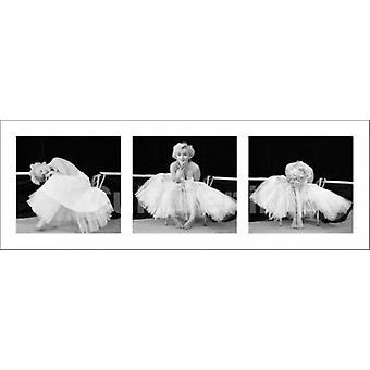 Marilyn Monroe Ballerina Triptych Poster Poster Print