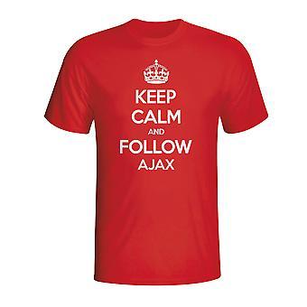 Garder calme et suivre Ajax T-shirt (rouge)