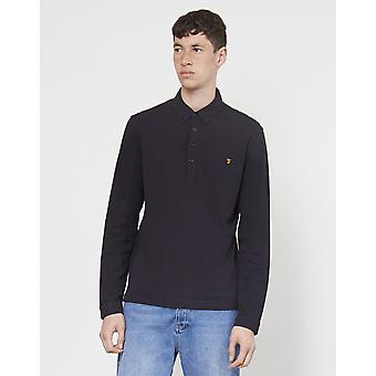 Farah Merriweather Long Sleeve Polo Shirt Black