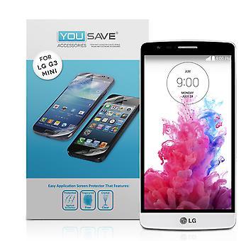 Yousave tilbehør LG G3 S skjermbeskyttere - 3 Pack