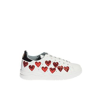 Chiara Ferragni ladies CF1570 white/red leather of sneakers