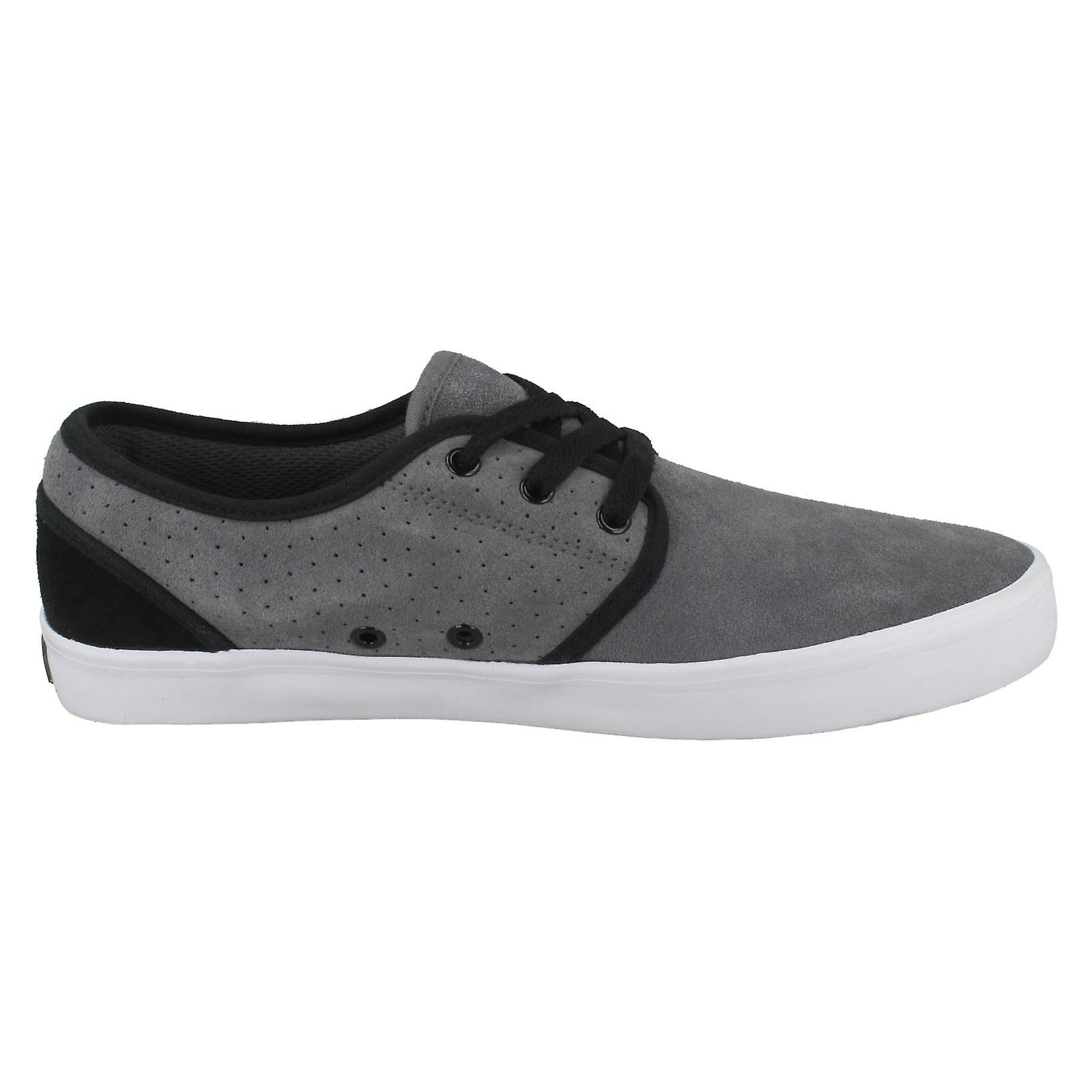 Dark EU Size 6 Vox Mens UK Grey White Inc 40 Size Suede 7 Size Casual Slacker Footwear Black US Shoes q1FBY6