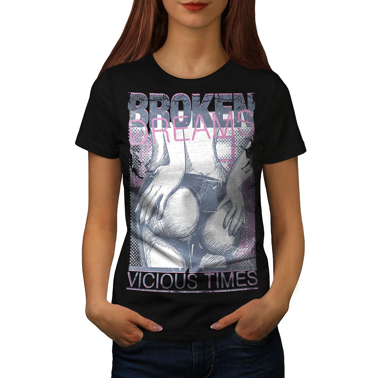 Girl Butt Dreams Sexy Women Black T-shirt | Wellcoda