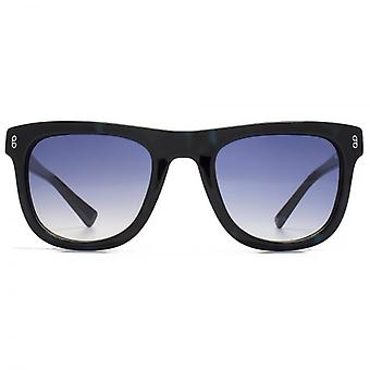 Hook LDN Latitude Chunky Retro Acetate Sunglasses In Blue Tortoiseshell