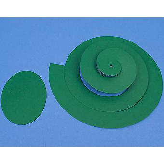 SALE - 10 Green Card Spiral Snake Shapes for Kids to Decorate