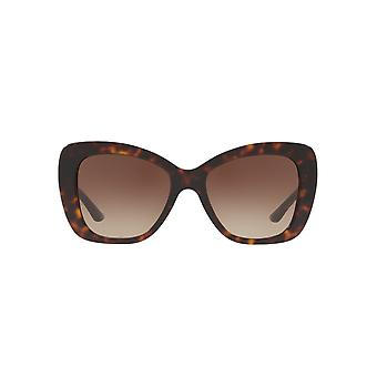Versace Medusa Logo Flared Sunglasses In Dark Havana
