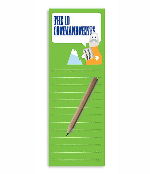 The 10 Commandments Magnetic To-Do Lists Notepad