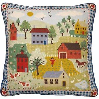 Shaker Village Needlepoint Canvas