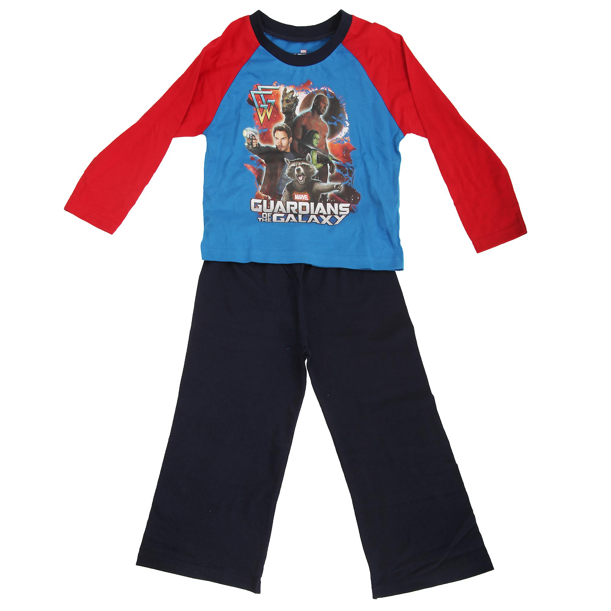 Marvel Childrens Boys Guardians Of The Galaxy Long Sleeve Top And Bottoms Pyjama Set